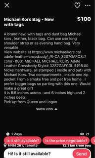 Brand new Micheal kors crossbody