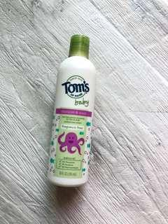 美國品牌Tom's of Maine baby, fragrance free, shampoo & wash 無香味無添加嬰兒洗頭水