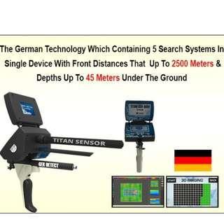 TITAN GER 1000 Metal Detector and Gold Detector