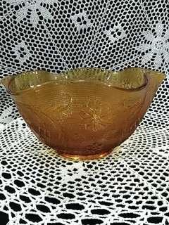Vintage Tiara Amber Salad Bowl (A3)