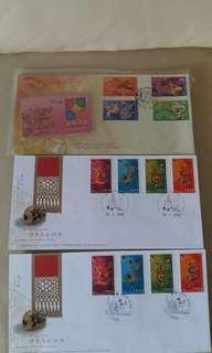 香港首日封纪念郵票共62封
