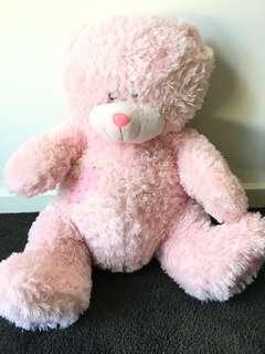 Pink teddy (Large) 50cm from bottom to head, excluding legs