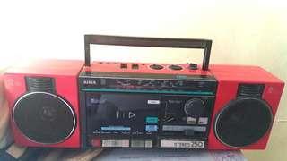 Vintage Aiwa 4 band stereo radio cassette tape recorder 古董 懷舊 中古 愛華 收音機 錄音機
