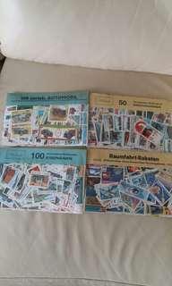 已蓋郵票收藏集-球類,運動,纪念,胡碟,花,太空,火車,運輸,汔車共565枚