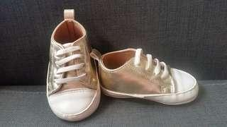 Baby shoes /BB 鞋/ 金色百日宴鞋