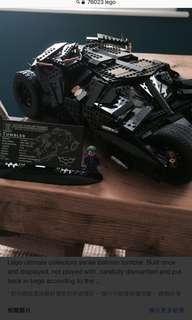 二手己砌有盒有說明書 76023 UCS Batman tumbler