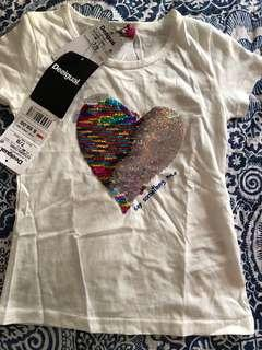 🚚 Desigual T-shirt with sequins reversible