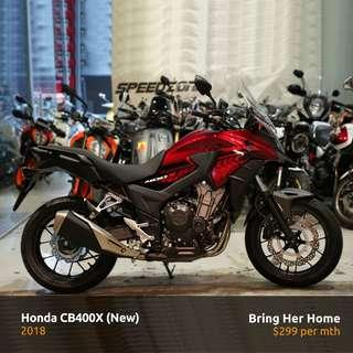Honda CB400X Red 2018 (New)