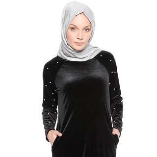(Size L) Velvelt Beaded Long Dress
