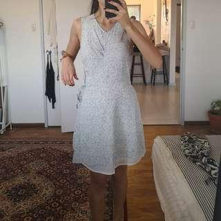 Atmos and here wrap white patterned summer dress