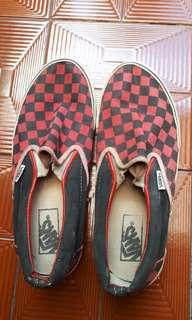 Vans red checkerboard USA