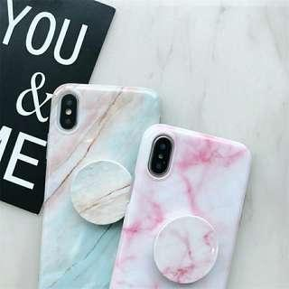 iPhone Marble Cases with Marble Pop sockets