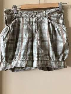 Italian Replay checked shorts, size 27, Aus 8-10