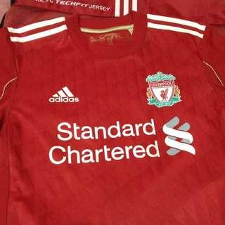 Price Reduced - Liverpool FC Techfit Player Issue Limited Jersey