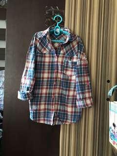 韓國制 少女 文青 格仔 懷舊 襯衫 恤衫 girls vintage shirt