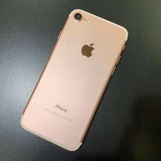 (完美無傷 )iPhone 7 128G 玫瑰金