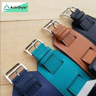 🚚 Cooper Leather Straps Band for Apple Watch 38mm 40mm 42mm 44mm