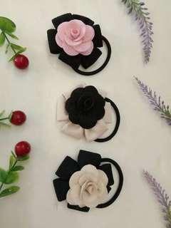 Flowers hair tied