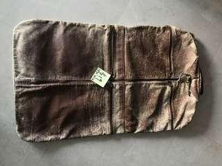 Moving Sale - 1950 USA full leather garment carrier