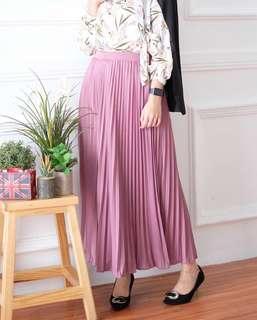Plisket Skirt/Rok Dustypink PREMIUM IMPORT