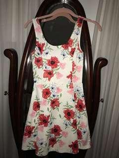 Short summer poppy dress
