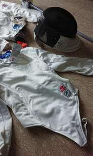 Fencing outfit and equipment