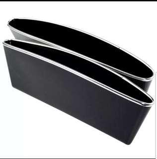 Car side storage holders in black