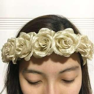 Gold Faux Floral Headband