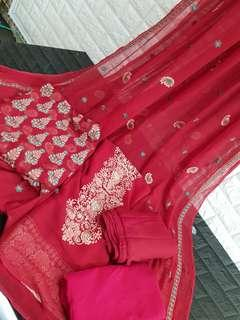 Pure Chiffon Embroidered
