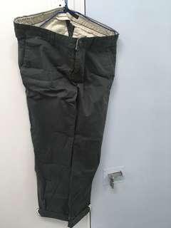 Zara墨綠色長褲 Zara Dark Green Trousers
