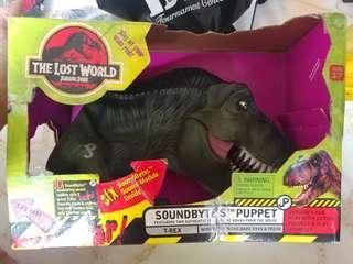 Jurasic park T-rex soundbytes puppet