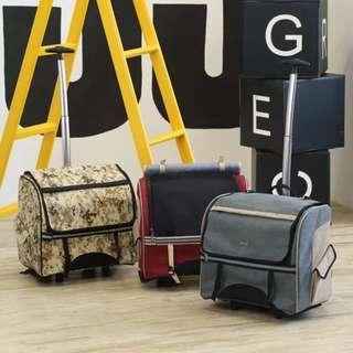 Designer's Traveler Pet Carrier trendy design pet carrier removable handlebars pet carriers on wheels Pet Bag