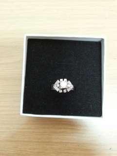 Vintage 14k White Gold 0.40 Carats Diamond Ring