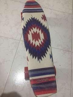 滑板 小魚板 白色 skateboard 香蕉板