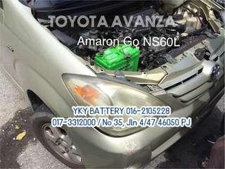 Kereta Bateri Toyota Avanza , Amaron Go NS60L