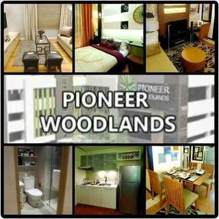 RUSH 1 UNIT - 1 BEDROOM 30.26SQM WITH 5% EARLY XMAS PROMO DISCOUNT AND FREE APPLIANCES RENT TO OWN CONDO AT PIONEER WOODLANDS STARTS AT 17K MO. NEAR BARANGKA, ILAYA, PIONEER STREET. , CALBAYOG, LIBERTAD, SHAW BOULEVARD, JULIA VARGAS, GUADALUPE, ESTRELLA