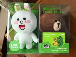 Line Plush Doll Brown Cony