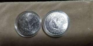 USA 1 $ 1972 coins  (2)