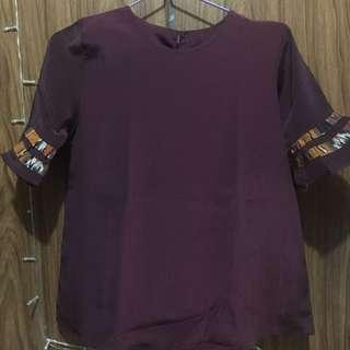 Baju maroon