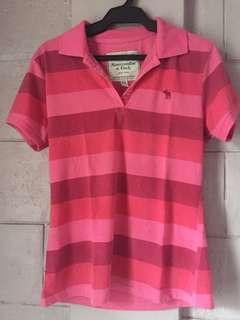 Stripes Pink Polo Shirt