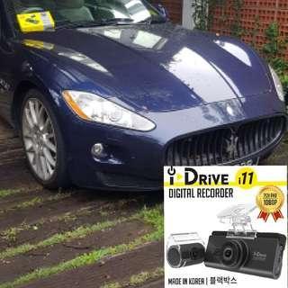 Idrive i11 car camera dvr installed into a Maserati Convertible
