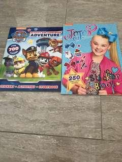 Paw Patrol activity book + princess activity book