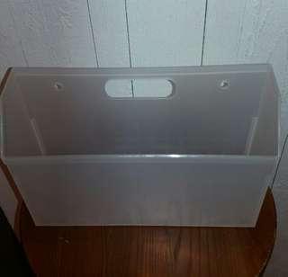 廚房/浴室萬用掛牆收納盒【背後有掛孔/27x18x9cm/L/H/W】