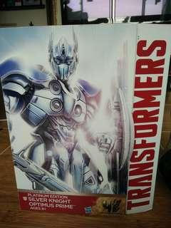 Limited Edition Silver Knight Optimus Prime