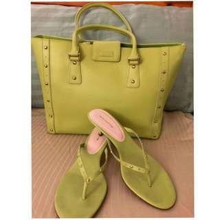 FREE!!! Ann Taylor Lime green sandals