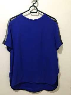 Zara Royal Blue Top with side mesh