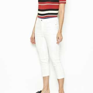 White Cropped Jeans #POST1111