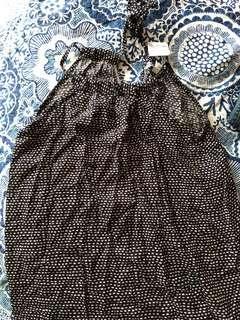 🚚 Balinese girl's causal maxi dress black and white print