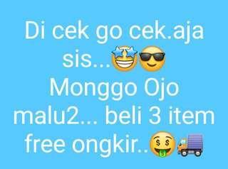 3 item free ongkir