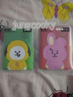 (Ready stock) BT21 official passport case